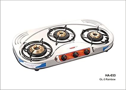 3B GL 3 Rainbow Gas Cooktop (3 Burner)