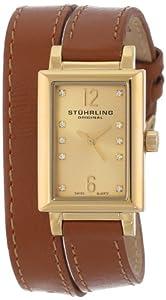 Stuhrling Original Women's 810.SET.02 Audrey Paris Swiss Quartz Gold Tone Wrap-Around Watch with Additional Strap
