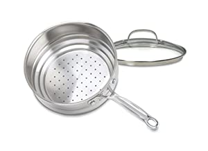 Cuisinart 6116-20 Chef's Classic Hard-Anodized Aluminum 20-Centimeter Universal Steamer with Lid