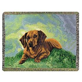 Dachshund Pedigree Collection throw