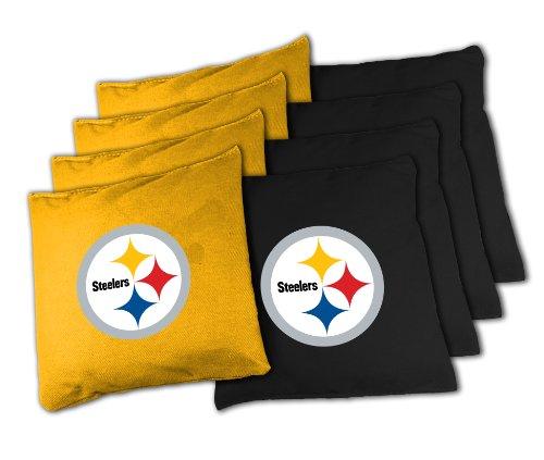 Wild Sports BB-XL-NFL124 NFL Pittsburgh Steelers Official Cornhole Bean Bag Sets