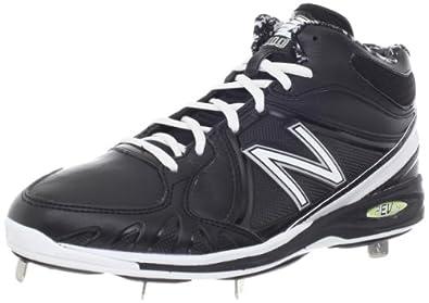 New Balance Men's MB3000 Mid-cut Baseball Cleat,Black/white,7.5 D US