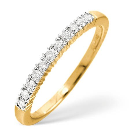 Finest UK Jewellery Ladies 9K Gold Half Eternity Ring 0.30Ct C1159