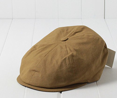 (ジェームスロック) James Lock イギリス製 コットン6Pハンチング キャメル 60cm 6PIECE CAP 6枚はぎ 6ピース 六方 綿 ハンチング キャスケット 大きいサイズ クラシカル レトロ メンズ 男性 紳士 帽子