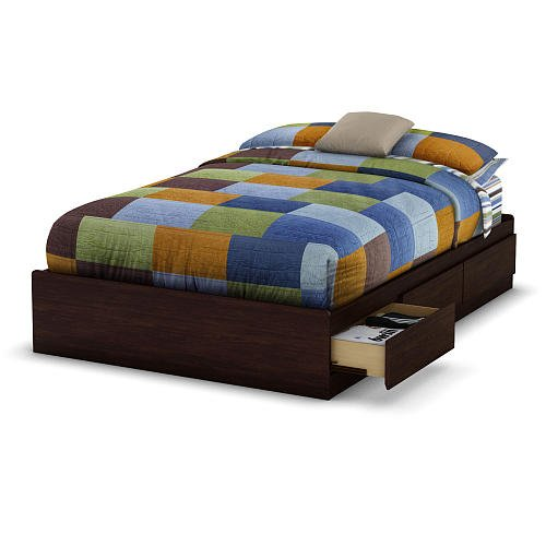South Shore Willow Collection Full Size Mates Bed Havana front-985972