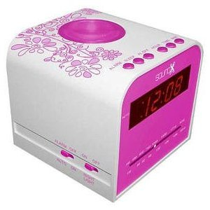 sound x alarm clock radio pink electronics. Black Bedroom Furniture Sets. Home Design Ideas
