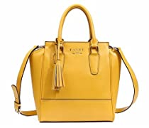RoKo PASTE New Style Cow Leather Handbag Shoulder bag With Tassels,Yellow