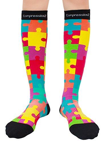 Compression Socks Jigsaw M 20 30mmhg Men Amp Women Fun
