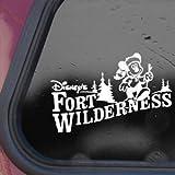 FORT WILDERNESS White Sticker Decal DISNEY MICKEY Die-cut White Sticker Decal