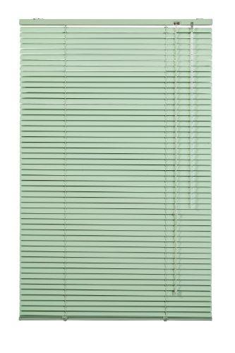 Wohn-Guide Jalousie Grün aus Alu, Aluminium-Jalousette Lindgrün Breite 60 Länge 220 AJ.060.220.06