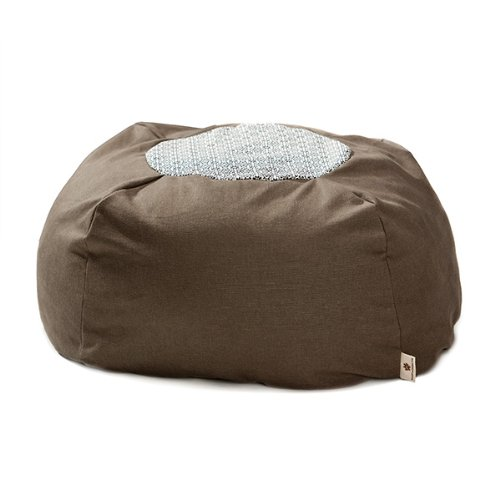 West Paw Design Hemp Eco Drop Small 24-Inch Diameter Dog Stuffed Bed, Timber