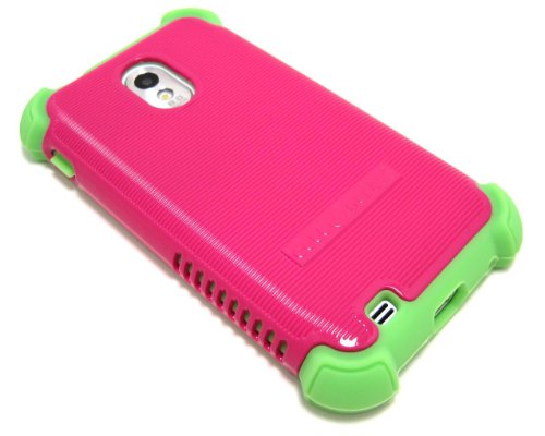 Cell-Nerds Nerdshield Grip Case Cover For The Sprint & Virgin Mobile Samsung Galaxy S2 (Sph-D710), Us Cellular Samsung Galaxy S2 (Sch-R760) & The Boost Mobile Samsung Galaxy S2 (Pink & Green)