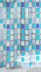 Kleine Wolke 4956721305 Duschvorhang Sonny, 180 x 200 cm, blau