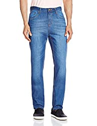 Cherokee Men's Tapered Fit Jeans (8907242789187_267695471_32W x 30L_Blue)