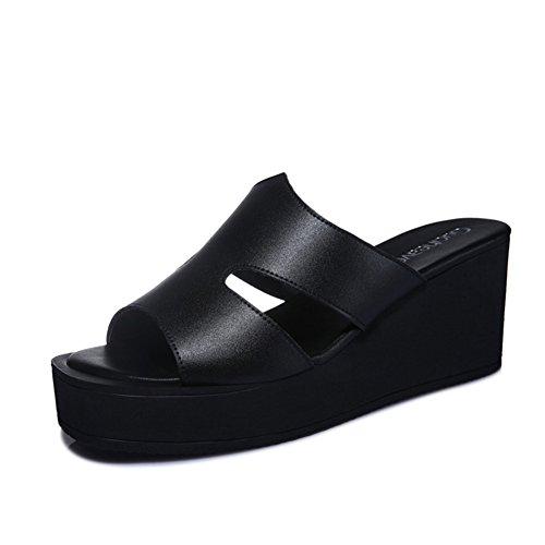 Pantoufles dames/Coins en mode sandales/Semelle épaisse portant des chaussures plates