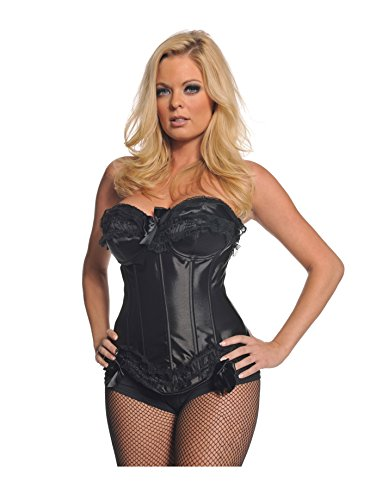 [Underwraps Women's Black Laced Bustier, Black, X-Large] (Victorias Secret Costume Ideas)