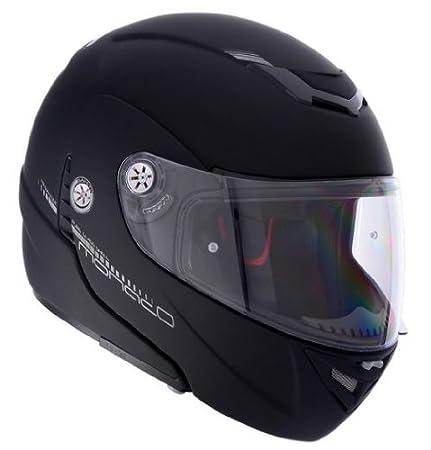 Lazer - Casque moto modulable MONACO PURE GLASS - Taille : L - Couleur : Noir mat