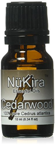 NuKira Cedarwood Essential Oil, Atlas, 0.34 Ounce