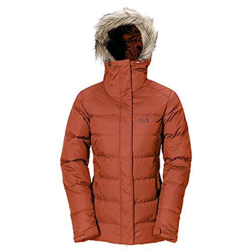Jack Wolfskin Damen Daunenjacke Baffin Jacket Women, Earth Orange, L, 1200542-3720004
