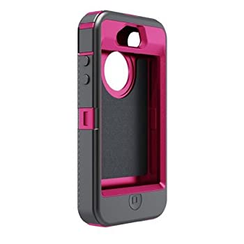 Set A Shopping Price Drop Alert For OtterBox Defender Series Hybrid Case & Holster for iPhone 4 & 4S  - Retail Packaging - Peony Pink/Gunmetal Grey