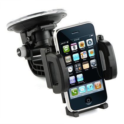 Flystone® Galaxy Note 3 Heavy-Duty Universal Car Mount Holder With Quick Lock And Release. Compatible With Iphone 5 5S 5C 4S/ Ipod Touch / Samsung Galaxy Note 2 N7100 / Samsung Galaxy S3 I9300 / Samsung Galaxy S4 I9500 / Samsung Galaxy S5 G900 / Samsung G