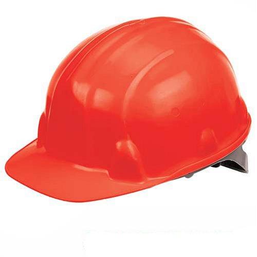Silverline Safety Hard Hat Red