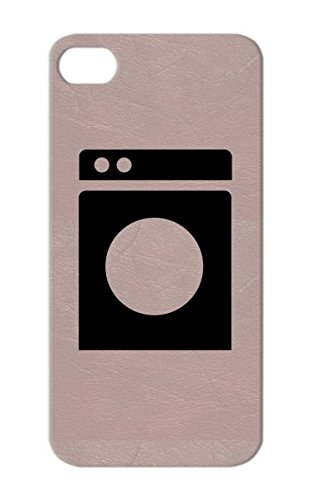 Skid-Proof Miscellaneous Laundry Clothes Dryer Symbols Shapes Black For Iphone 5 Case front-57811