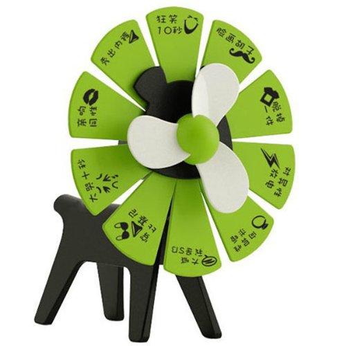 Mini USB Fan Lucky Dog Turntable Portable Fan