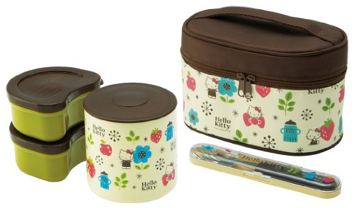 Hello Kitty (Scandinavian) Fork Case With Heat Insulation Jar With Lunch Box Kclj7Dx (Japan Import) front-59749