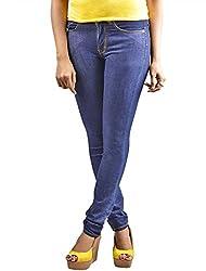 Scilla Women's Skinny Jeans (AR0001, Dark Blue)