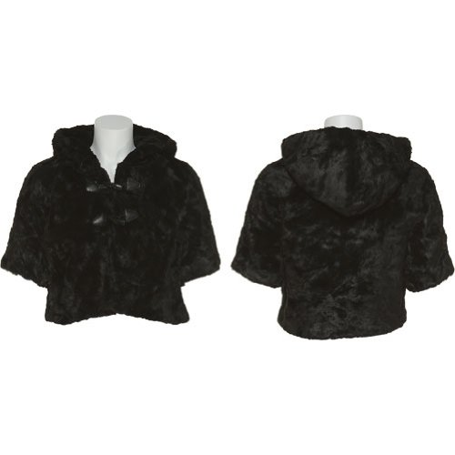 JACK by BB Dakota Cropped Faux Fur Jacket W/ Hood [J42512]
