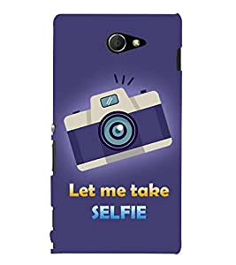 Let Me Take Selfie 3D Hard Polycarbonate Designer Back Case Cover for Sony Xperia M2 Dual D2302 :: Sony Xperia M2