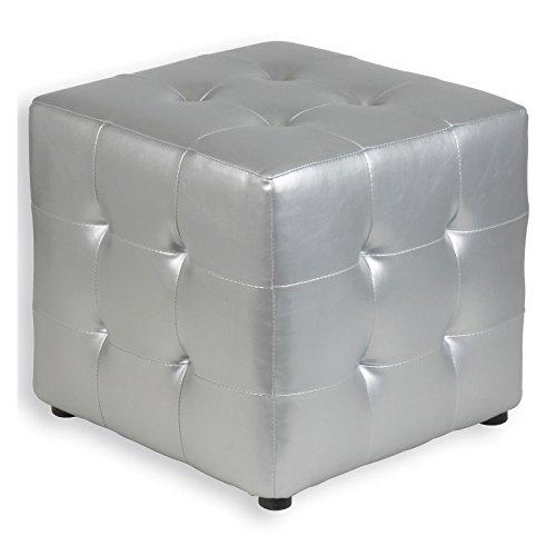 Wrfelhocker-Sitzhocker-Sitzwrfel-Polsterhocker-DIANA-silber