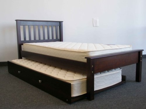 Bed Twin size with Trundle in Cappuccino