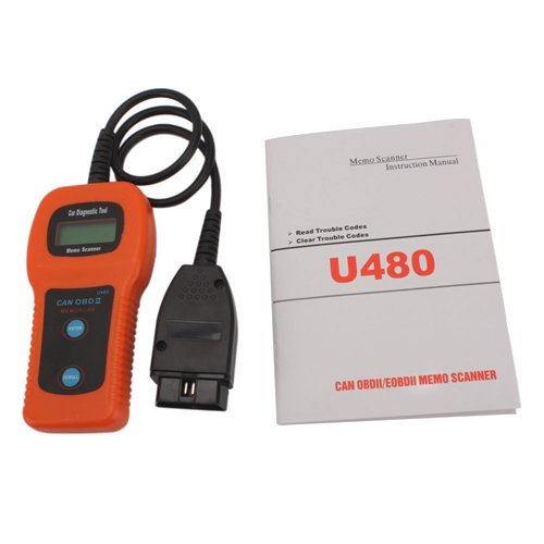 XTOOL U480 CAN-BUS OBDII Car Diagnostic Scanner obd2 tool u480 1 5 lcd universal can bus obd2 car diagnostic code reader memo scanner