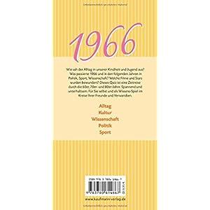 Jahrgangs-Quiz 1966: Unsere Kindheit und Jugend
