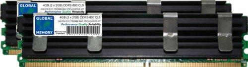 4GB (2 x 2GB) DDR2 800MHz PC2-6400 240-PIN ECC FULLY BUFFERED (FBDIMM) ARBEITSSPEICHER KIT FÜR MAC PRO (ANFANG 2008)