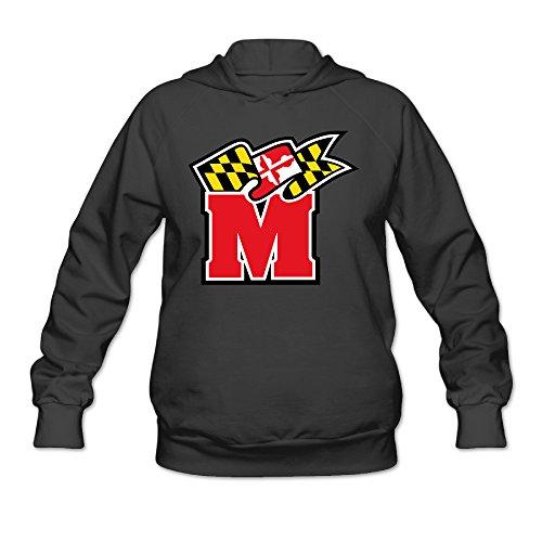 RABBEAT Women's Sweater University Of Maryland Terps Size L Black