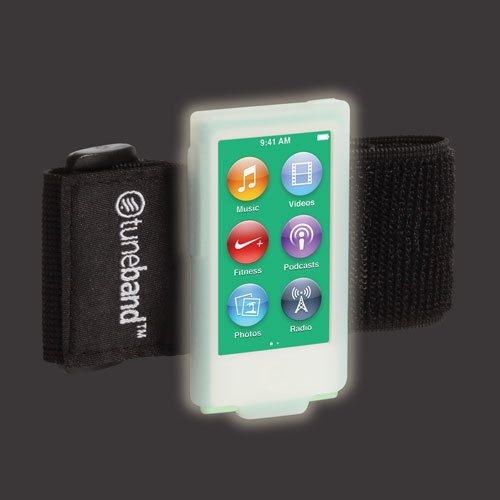 Tuneband for iPod Nano 7th Generation, Grantwood Technology's Armband, Silicone Skin, and Screen Protector, (Model Number: A1446 , 16 GB), GLOW IN THE DARK