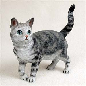 Shorthair Standing Silver Tabby Standard Figurine Conversation Concepts Cat