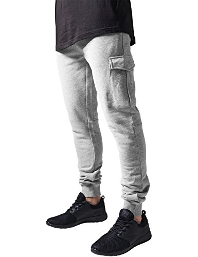 urban-classics-fitted-cargo-sweatpants-pantalon-homme-gris-grau-grey-111-w54