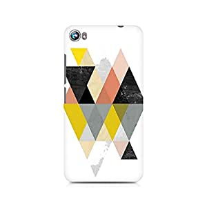 Ebby Random Colorful Triangles Premium Printed Case For Micromax Canvas Fire 4 A107