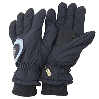 Superb quality heavy duty skiing gloves. Water resistant ski-ing gloves with Thermal Warmth Thinsulate Insulation. Microfibers have more surface area to trap more warm air and insulate better than large fibers or other insulation. Adjustable strap. F...