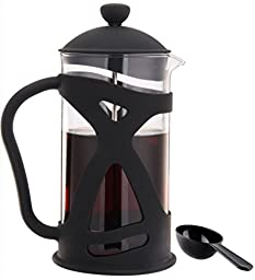 VitaXtreme French Coffee and Tea Maker, Borosilicate Glass French Press and Serving Pitcher, 1000 ml / 34 Ounce, Black