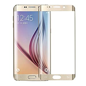 ALCLAP S6 Edge Plus screen protector -Samsung Galaxy S6 Edge Plus Tempered Glass-Full 3D Coverage - HD Ultra Clear Film - Anti-Bubble Edge to Edge (Gold,NOT FOR S6 EDGE) from ALCLAP