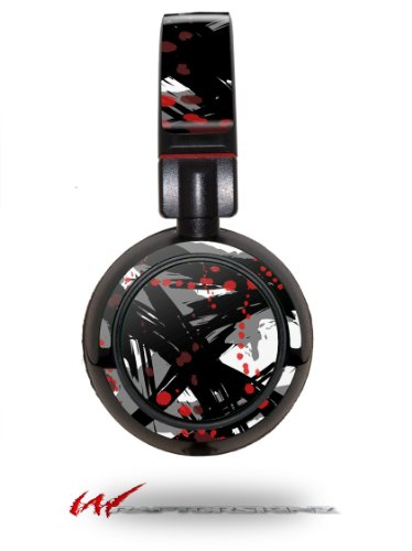 Abstract 02 Red - Decal Style Vinyl Skin Fits Sony Mdr Zx100 Headphones (Headphones Not Included)
