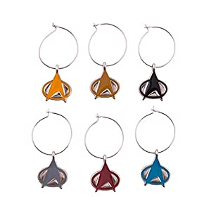 Star Trek The Next Generation Wine Charms