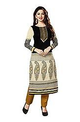 Aarvi Women's Cotton Unstitched Kurti Material-CVK035