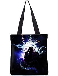 Snoogg Abstract Girl Digitally Printed Utility Tote Bag Handbag Made Of Poly Canvas