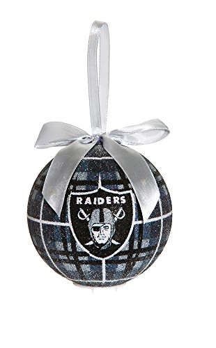 100Mm Led Ball Ornament, Oakland Raiders